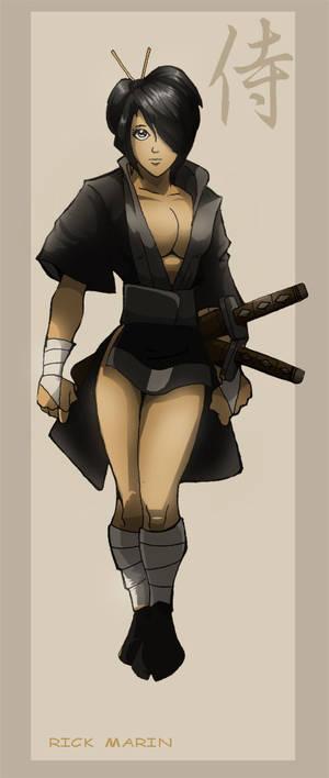 Model Sheet 4: Samurai girl 2