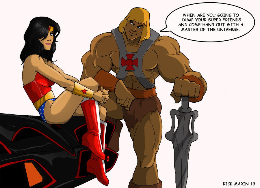 He-man and Wonder Woman by Misterho
