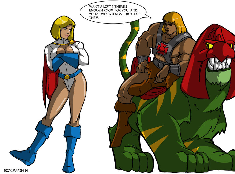 He-Man  meets  POWER GIRL by Misterho