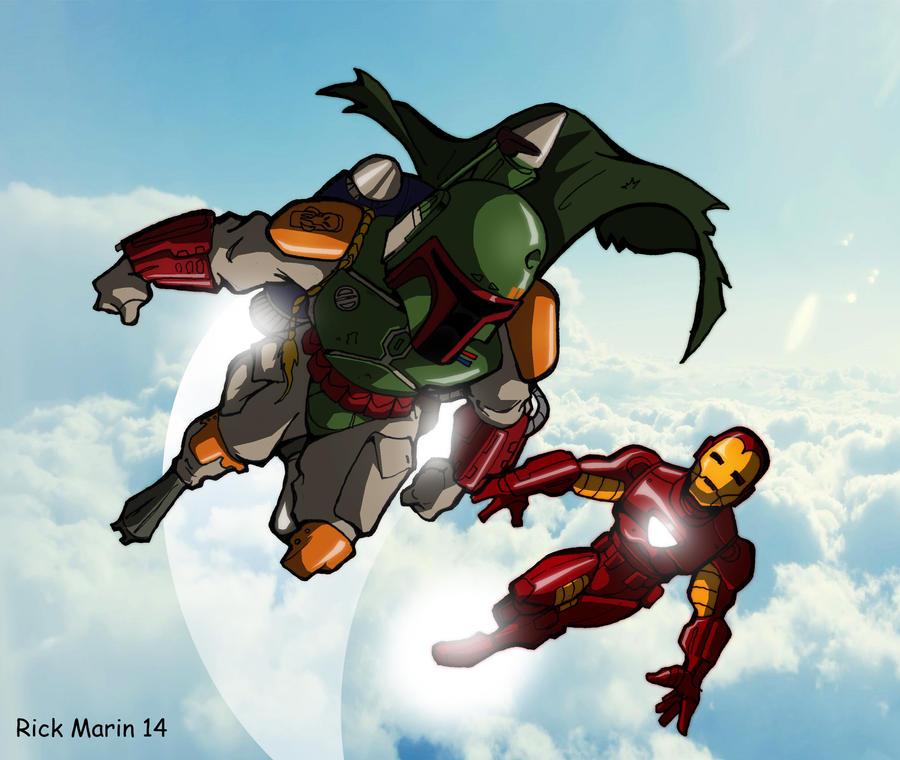 Boba Fett and Iron Man by Misterho on DeviantArt