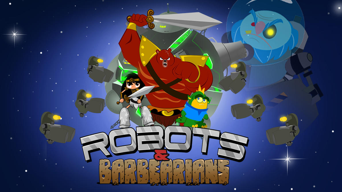Robots and Barbarian by Misterho