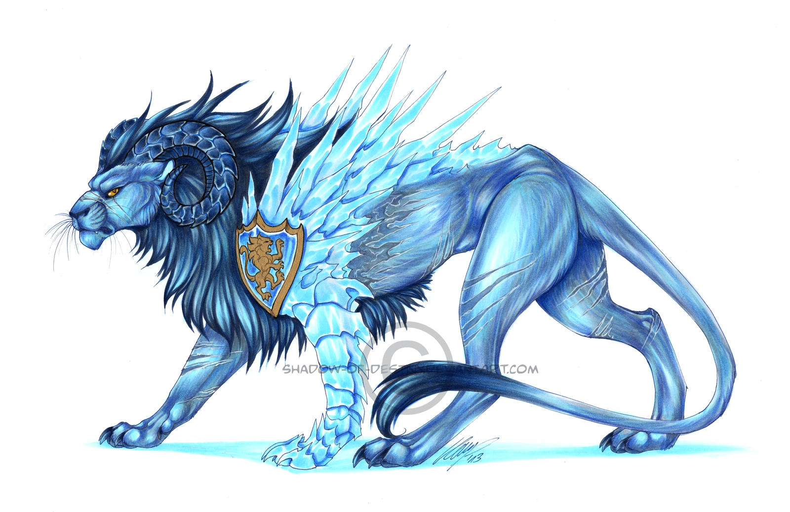 c ice lion by shadowofdestiny on deviantart