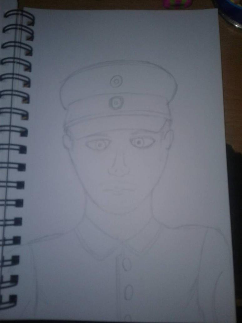 WW1 german officer by Unwindmind