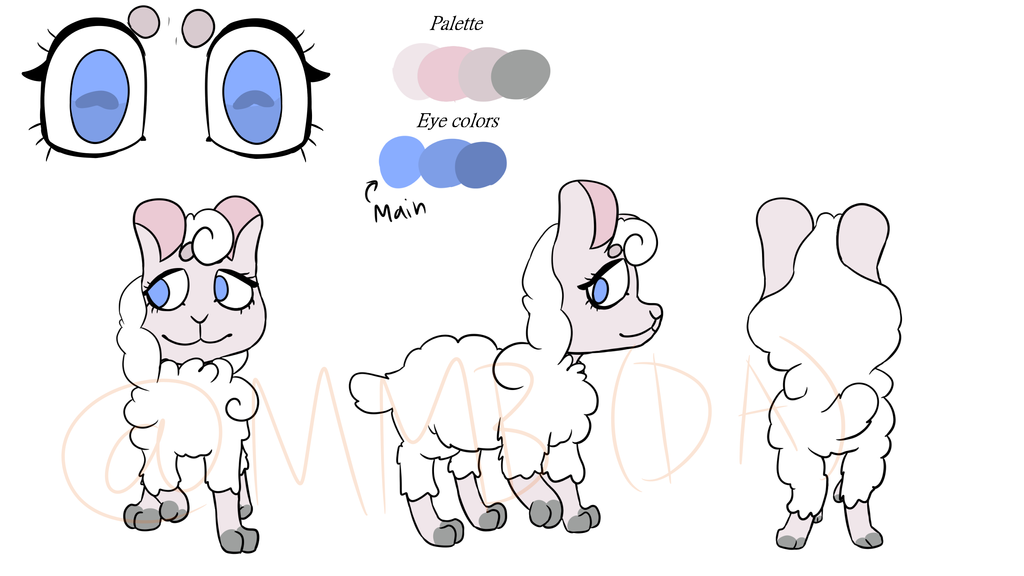 Angelina ref sheet by MythicalMagicBeasts