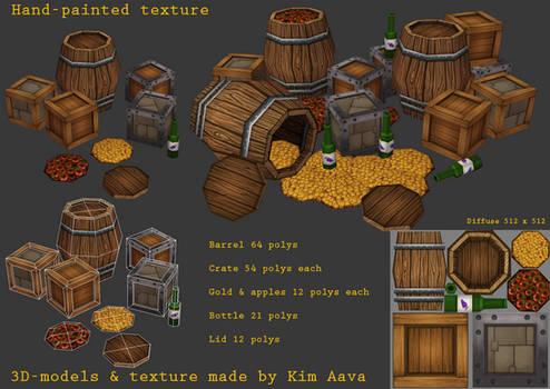 Handpainted barrel crates etc