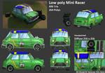 Low poly Mini Racer