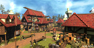 Handpainted Town
