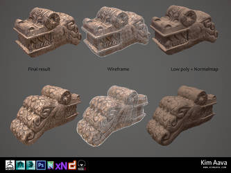 Nordic Environmet - dragon head by Mad-Owl