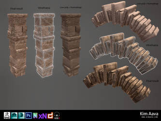 Nordic Environmet - pillar and arch models by Mad-Owl