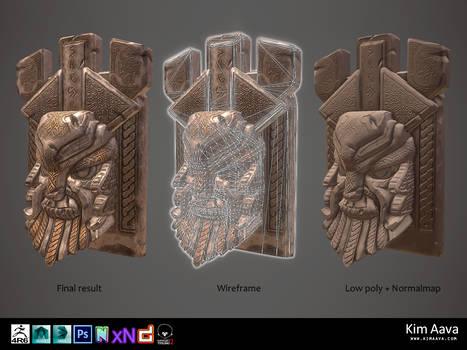 Nordic Environmet - Viking head stone