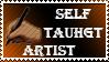 Self Taught Artist Stamp by PalmTreezSanchez