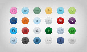 26 Color Social Media Icons .psd