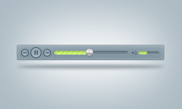 blue mp3 player .psd by emrah-demirag