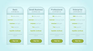 blue pricing table .psd