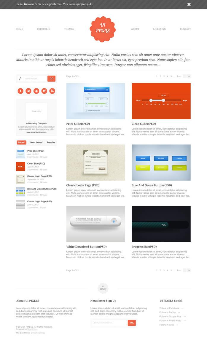 Uipixels.Com interface Design by emrah-demirag