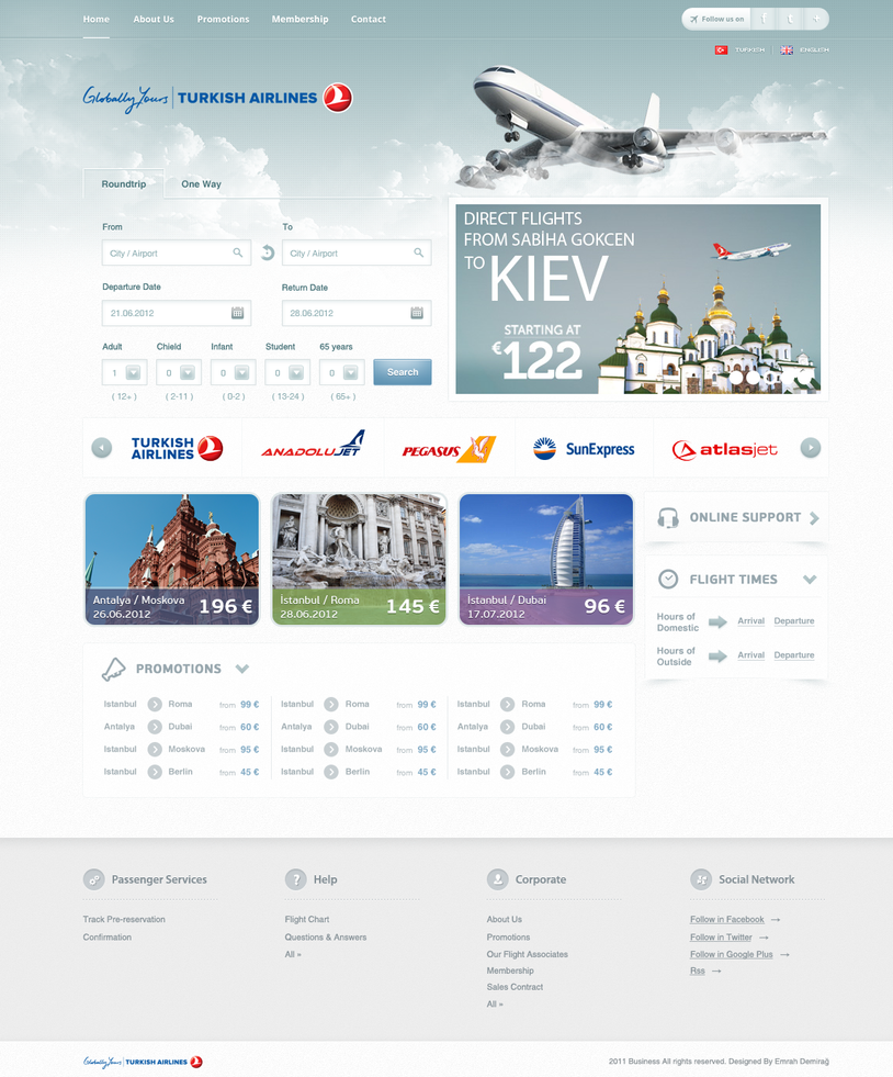 Airline Tickets Site Design by emrah-demirag