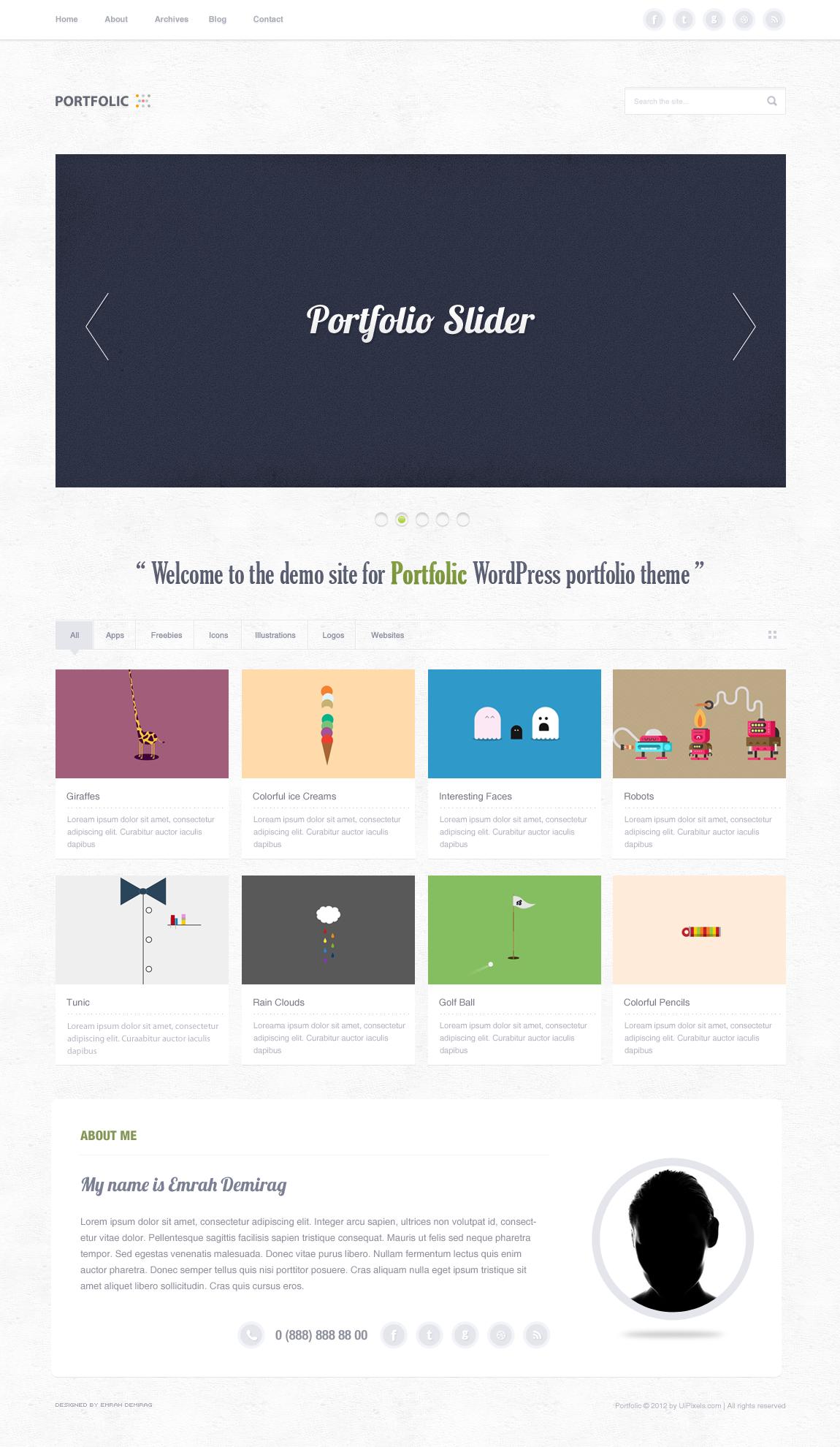 Portfolio Theme Free .PSD by emrah-demirag