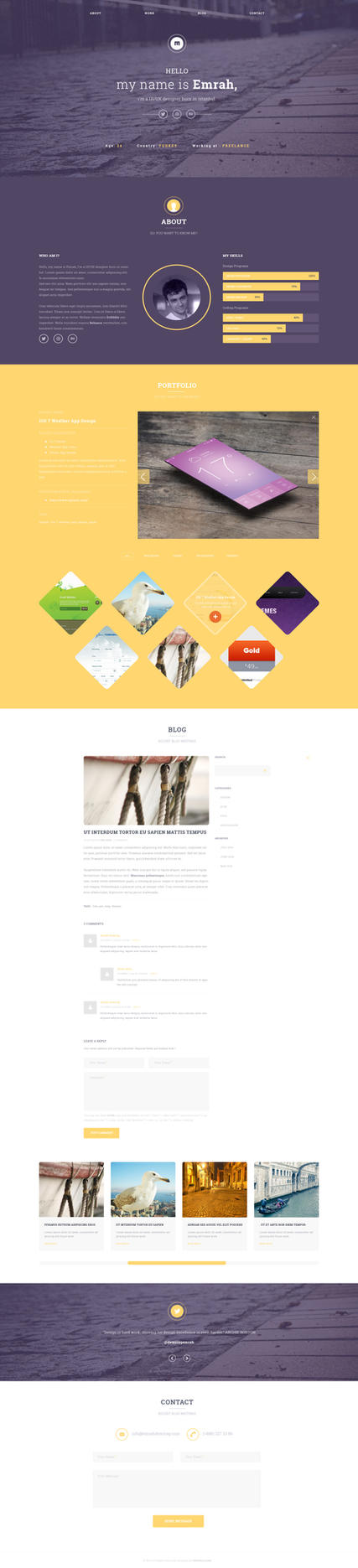 UIPIXELS Portfolio Template(PSD) by emrah-demirag