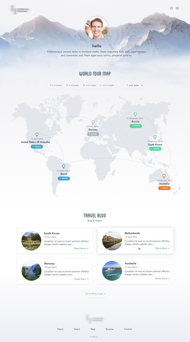 Traveler Website by emrah-demirag