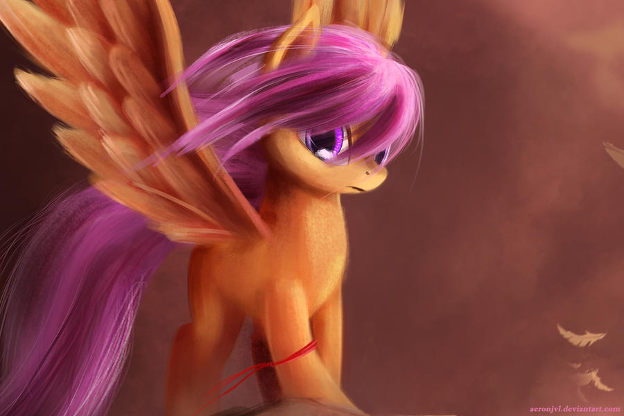 Crusaders - Scootaloo: Wallpaper edition by aJVL
