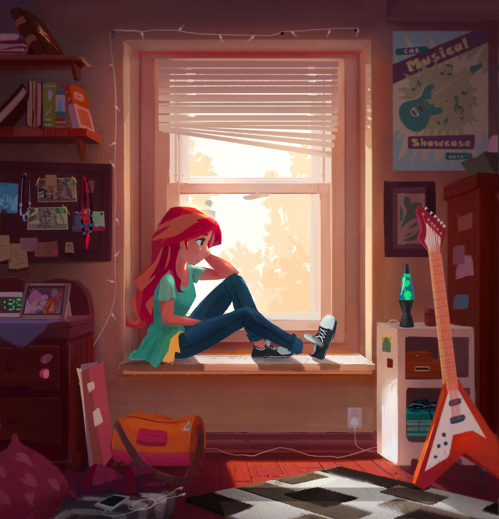 After camp sunset shimmer by ajvl on deviantart for Fresh look painting