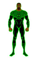 Green lantern (John Stewart) by Chiracy