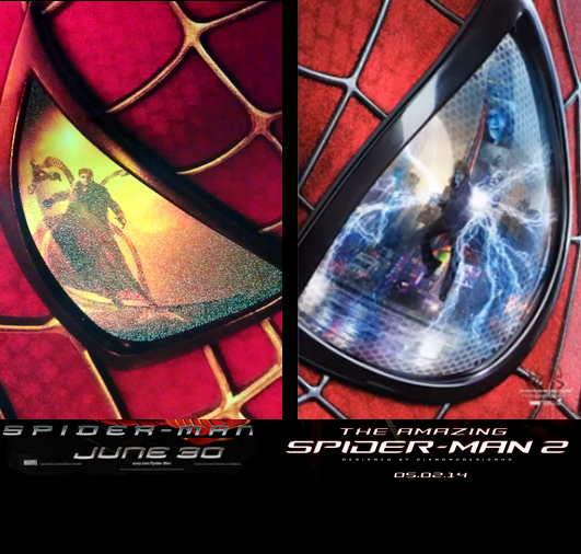 spiderman two poster 2004 vs 2014 by chiracy on deviantart