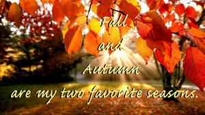 Fall and Autumn are my two favorite seasons by Chiracy