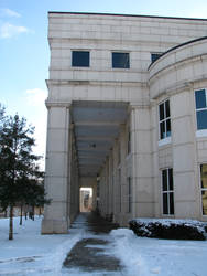 Mullins Library with Snow