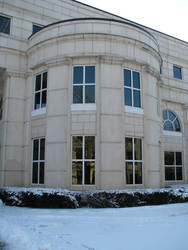 Mullins Library with Snow II