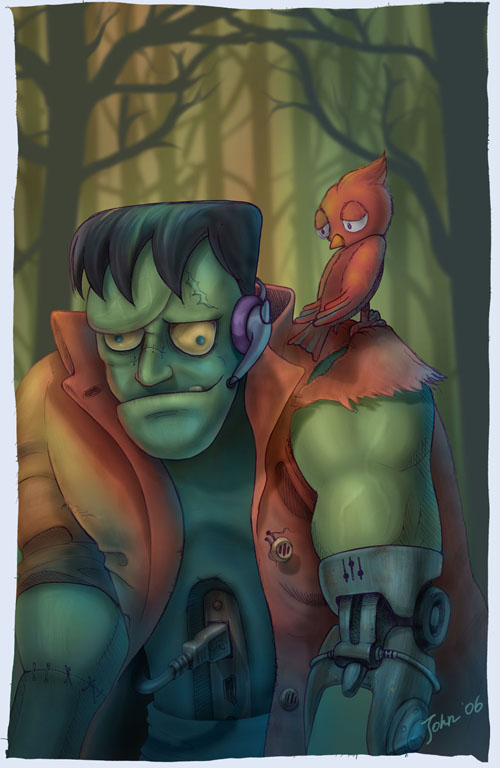 Halloween Frankenstein by starryjohn
