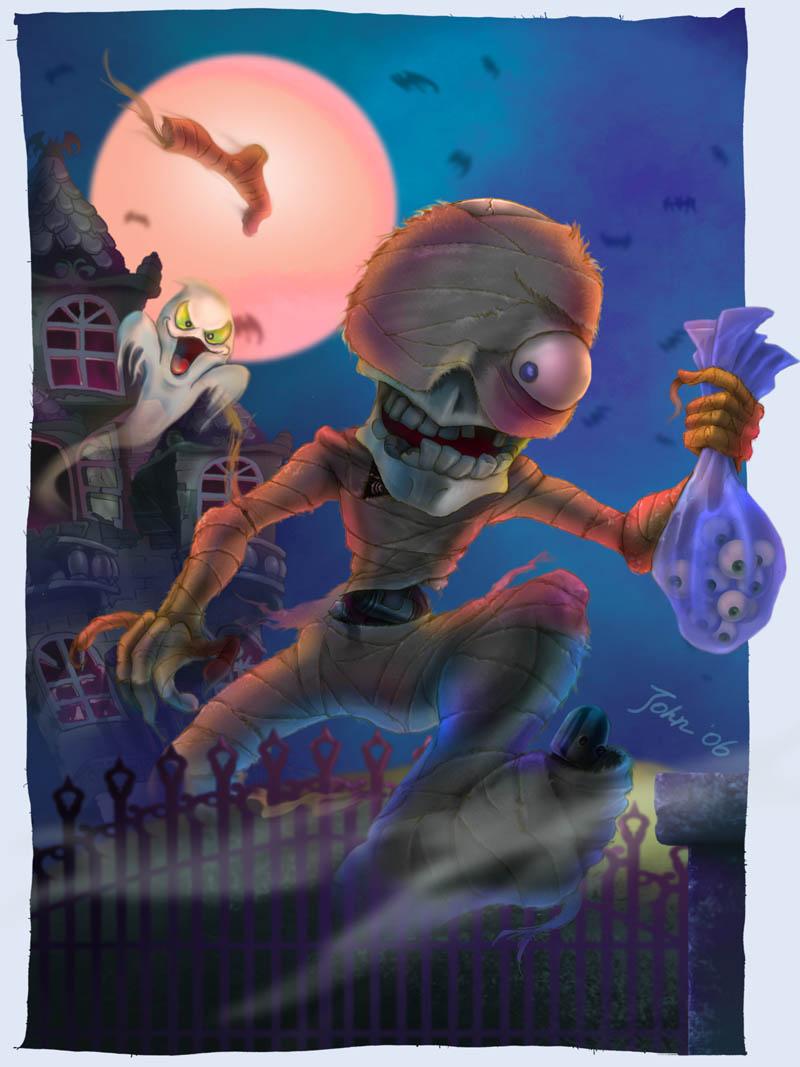 Halloween Mummy by starryjohn