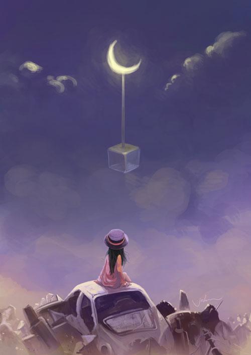 moon by starryjohn