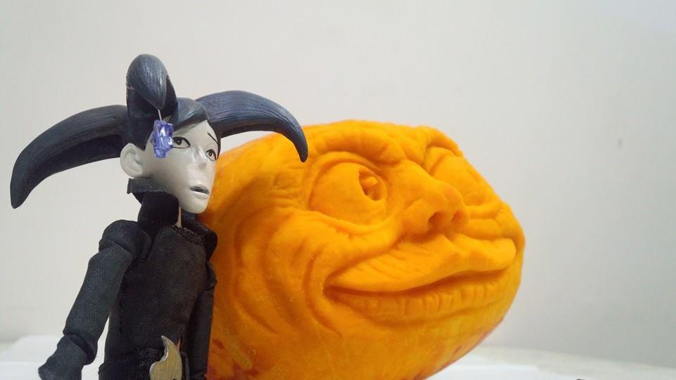 pumpkin carving by starryjohn