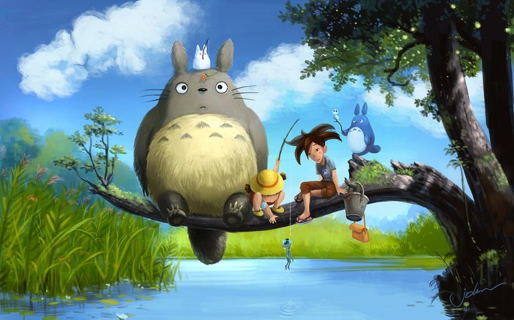 Totoro and Starry by starryjohn