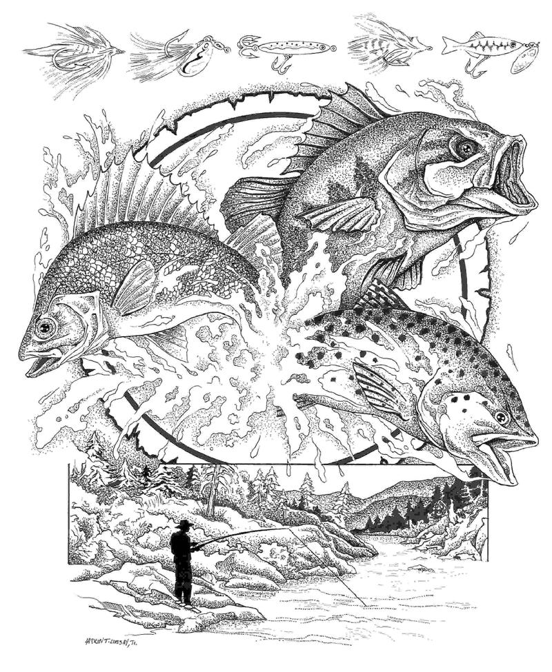 Fly Fishing Tshirt Design by PaintSlinger