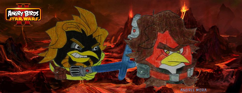 Angry Birds Star Wars II Obi wan vs Anakin by EternalUchiha92 on