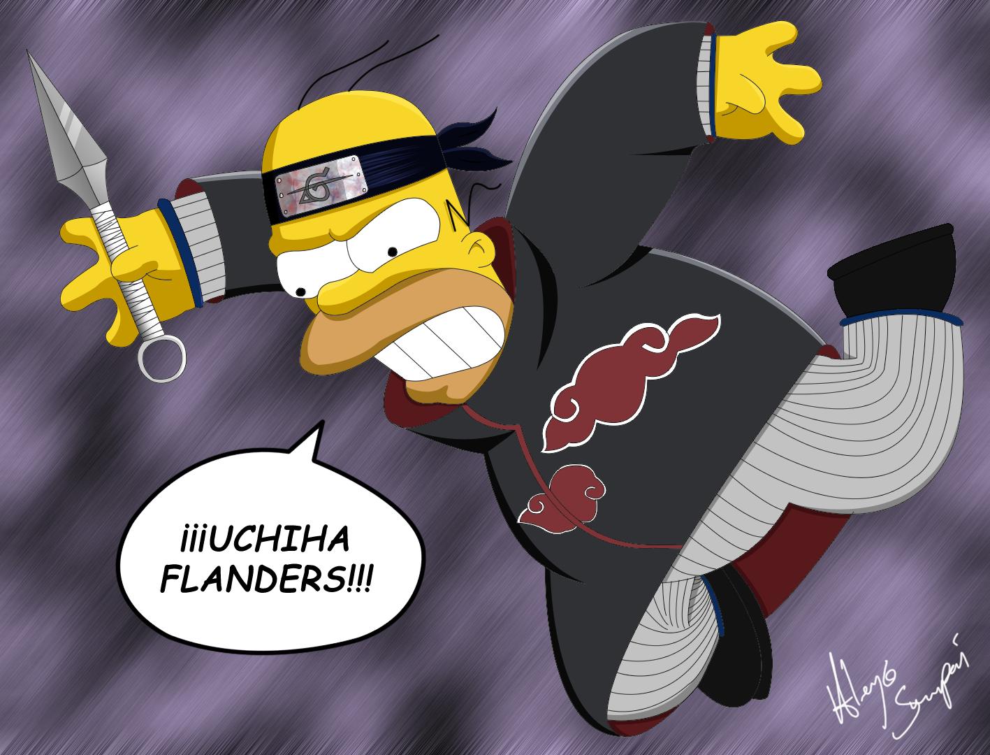 Uchiha Flanders Homero_Akatsuki_By_Me_by_Alejandro_Senpai