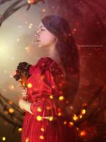 Le bouquet de roses by PlacidAnemia