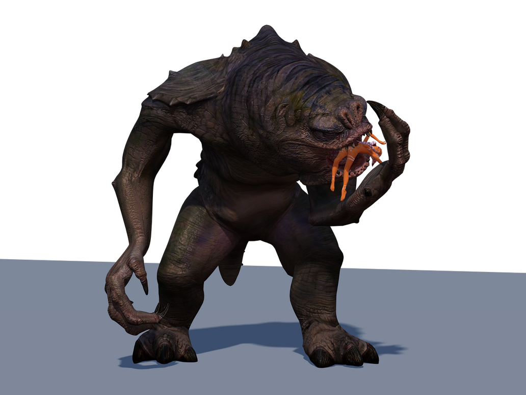Rancor 2.  Animation Preview by DragesOversky