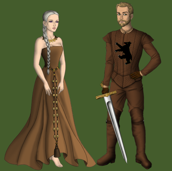 Dany and Jorah by alcanis-ivennil