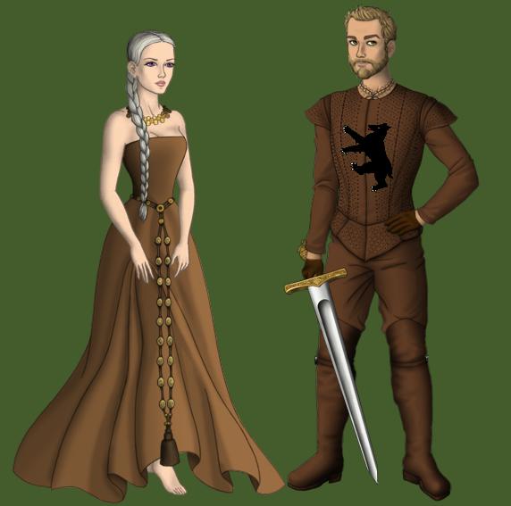 Dany and Jorah by alcanis-ivennil
