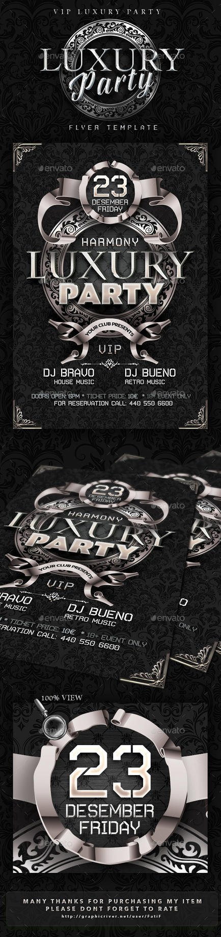 Luxury Party Flyer Template by arEa50oNe