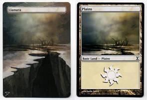 Plains- Altered Magic Card