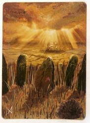 Plains II - Altered Magic Card