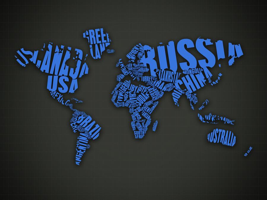 World Map Blue by gustafnagel