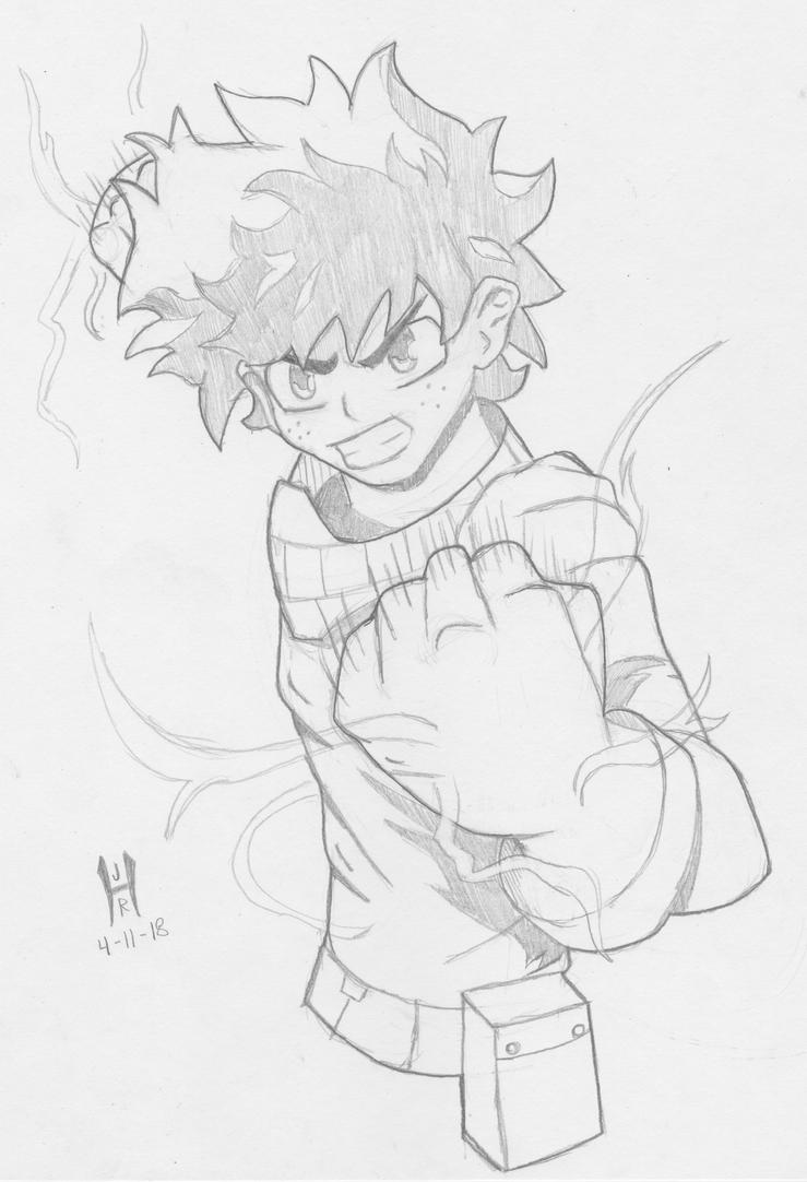 Midoriya Pencils by TheGreenCount