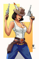 Female Gunfighter Colors by TheGreenCount