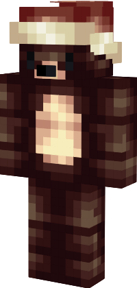 christmas teddy bear minecraft skin by oneshotonekiller - Christmas Skins For Minecraft