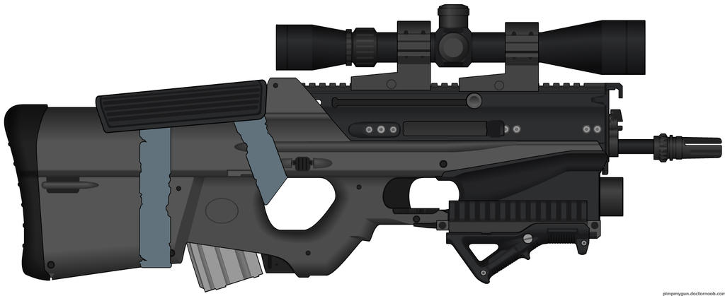 Post-apocalyptic : F2000 Tactical -bull rampager - by ZiWeS